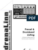 AdrenaLinn III presets & drumbeats manual, 11-25-07