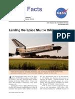 NASA Facts Landing the Space Shuttle Orbiter at KSC 2003