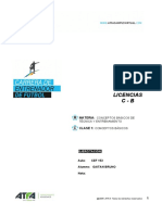 CEF Conceptos basicos de Tecnica y Entrenamiento Clase 1 Ejercitación