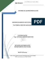 INFORME DE GEOREFERENCIACIÓN VIA VDA CHENCHE ASOLEADO