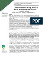 Buen funcionamiento humano, salud y promoción de la salud