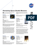 NASA Facts Remaining Shuttle Missions