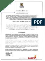 Alcaldia Mayor de Bogota - Decreto 206 de 2020