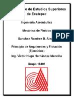 Principio de arquimedes y flotacion, tarea del 27 al 17 de marzo
