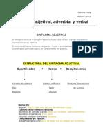 Sintagma adjetival, adverbial y verbal