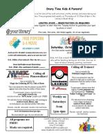 10.2020 October Adult Newsletter Flyer