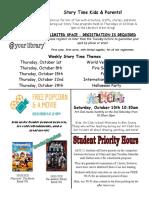 10.2020 October Kids Newsletter Flyer