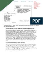 Sagal Hussein Criminal Complaint