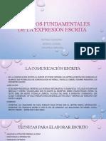 ASPECTOS FUNDAMENTALES DE LA EXPRESIÓN ESCRITA