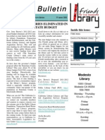 Friends of the Modesto Library Winter 2011 Newsletter