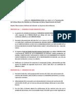 2. Observaciones al Informe de Evaluación de las propuestas