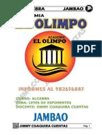 ALGEBRA CAPITULO 1 LEYES DE EXPONENTES