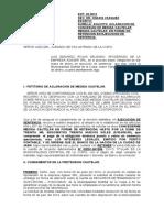 ACLARACION DE MEDIDA CAUTELAR - CASO AGASER