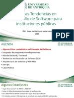 Nuevas Tendencias en Desarrollo de Software para instituciones