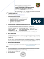 convocatoria y BANCO pgtas- Desarrollado exaqmen de suficiencia