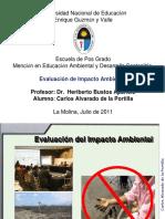 CA. EVALUACIÓN DE IMPACTO AMBIENTAL. PROYECTOS DE INVERSIÓN.