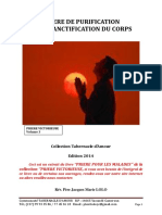 PRIERE DE PURIFICATION ET DE SANCTIFICATION DU CORPS (1)