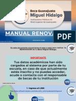 Manual de renovación Beca Miguel Hidalgo