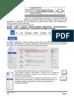Lectura de Microsoft Word de HERRAMIENTAS DE LA BARRA DE MENÚ O DE OPCIONES ACTIVAS 71