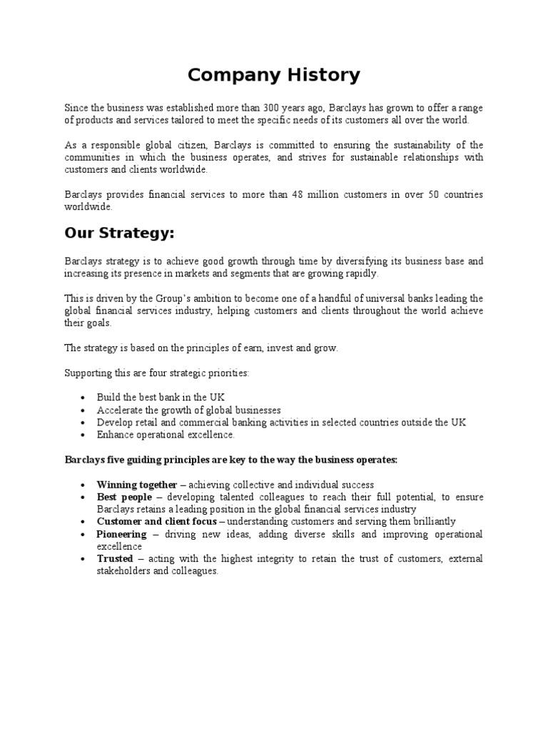 Barclays PLC Case Study   Barclays   Banks