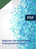 Régimen de Contabilidad Presupuestal Pública