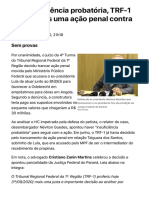 ConJur - Por insuficiência probatória, TRF-1 tranca ação penal contra Lula.pdf