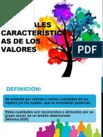 PRINCIPALES CARACTERÍSTICAS DE LOS VALORES