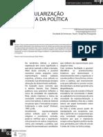 ESPETACULARIZAÇÃO MIDIÁTICA DA POLÍTICA