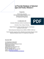 USDA National Fluoride Database of Selected  Beverages and Foods -  December 2005