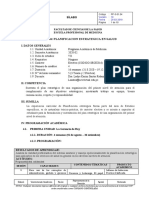 Silabo de planificación estrategica en Salud 2020 02