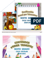 DOSIFICACION POR TRIMESTRE SEXTO GRADO 2020-2021