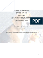 Evaluation Report AIA-360 samples from dogs and cats