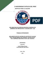 Implementación de Sistema de Gestión de Calidad  en Dpto de Control Calidad Textil  en la Empresa Industria Textil del Pacífico