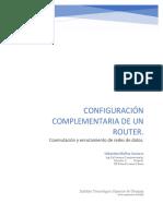 Sebastian Molina Gustavo -Configuración complementaria de un router