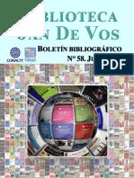 Boletín-Biblioteca Jan De Vos-Julio 2019