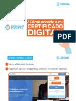 Instructivo Certificados CIDI