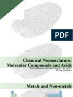 10.5. Chemical Nomenclature - Molecular Compounds and Acids (1)
