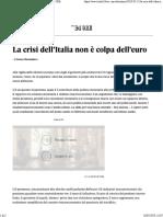 La crisi dell'Italia non è colpa dell'euro - Il Sole 24 ORE.pdf