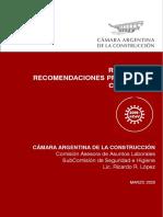 Protocolo Camara Argentina de la Construccion - COVID19