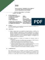 Sílabo de Matemática Financiera y Actuarial