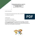 Instrucciones Examen De Educaciòn Fìsica 2 Unidad