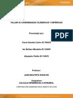 TALLER #2 COORDENADAS CILINDRICAS Y ESFERICAS