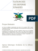 PRESENTATION DES FORCES DE DEFENSE CAMEROUNAISES