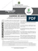 Caderno Subsequente