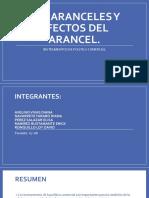 Política Comercial.  Arancel y efecto del arancel