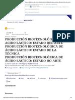 Biotecnologia acido lactico