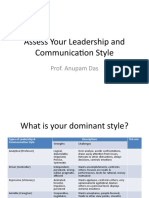 Assess Your Leadership and Communication Style