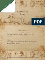 ENGLISH- Elements of Drama