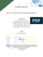Unidad 1y 2 - Fase 4 - Costruir y aplicar un modelo de Diagnòstico organizacional_ Grupo 102025_14....