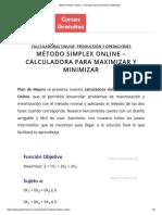 Método Simplex Online - Calculadora para Maximizar y Minimizar.pdf